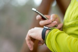 smartphone connected sports watch